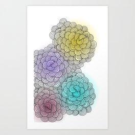 Line drawing 1 Art Print