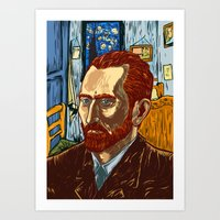 van gogh Art Prints featuring Van Gogh by Nicolae Negura