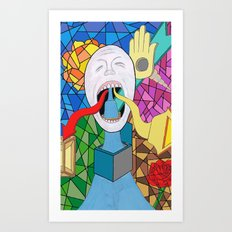 Spitting Out Art Print