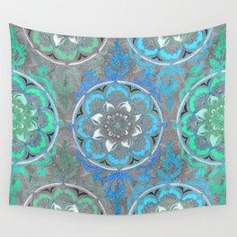 Mint Green, Blue & Aqua Super Boho Medallions Wall Tapestry