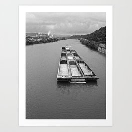 Barges on the Mon Art Print
