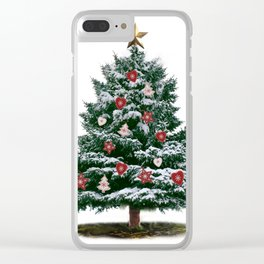 Christmas Tree by Chrissy Clear iPhone Case