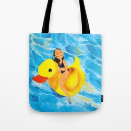 Pool Queen Tote Bag