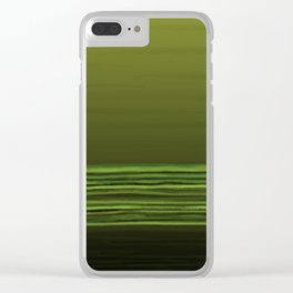 Horizon (olive green) Clear iPhone Case