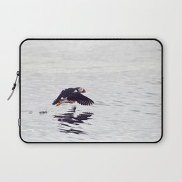 Puffin approaching! Laptop Sleeve