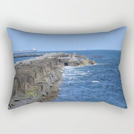 Cabrillo Rock Wall Rectangular Pillow