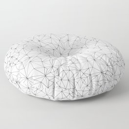 Geometric Line Art Design Floor Pillow
