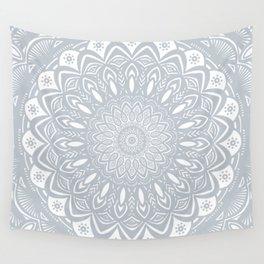 Cool Gray Mandala Simplistic Bold Minimal Minimalistic Wall Tapestry