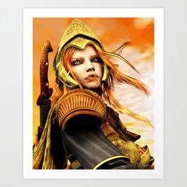 The Golden Champion Art Print