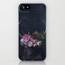 Antlers + Flowers iPhone Case