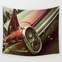 Vintage Car : Red Coupe De Ville Wall Tapestry