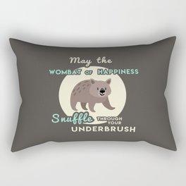 Wombat of Happiness Rectangular Pillow
