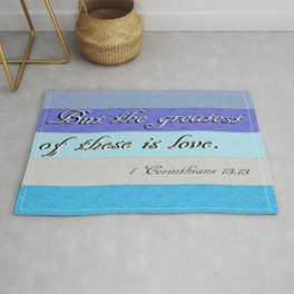 1 Corinthians 13 The Greatest of These Rug
