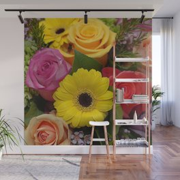 Elegant Spring Floral Bouquet Wall Mural