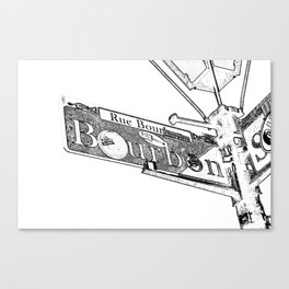 Sign of Bourbon Street  Canvas Print