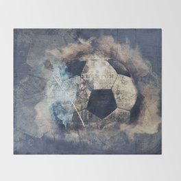 Abstract Grunge Soccer Throw Blanket