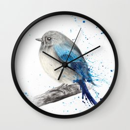 Round and Happy Bird Wall Clock
