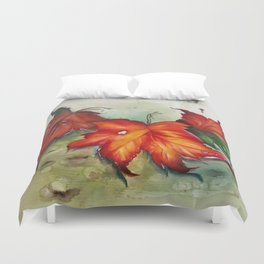 Autumn Leaves (Platanus) Duvet Cover