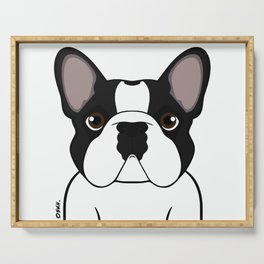 Frenchie - Brindle Pied Serving Tray