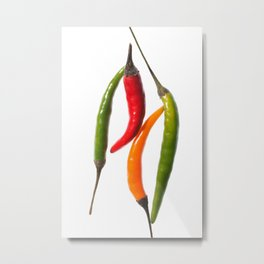 Chilli Mix 2 Metal Print