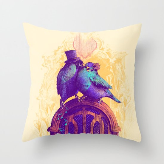 LISTEN TO THE SONG Throw Pillow