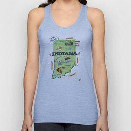 INDIANA map Unisex Tank Top