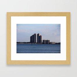 Fort Myers Skyline Framed Art Print