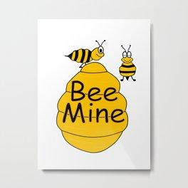 Honey Bee Mine Metal Print