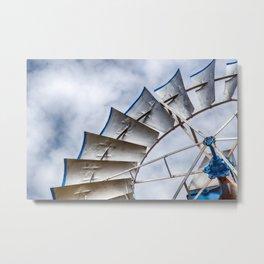 Prairie Pinwheel Metal Print