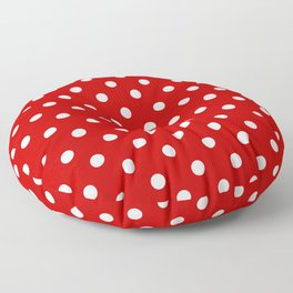 Classic Red Polka Dots , Vintage Polka dots Pattern   Floor Pillow