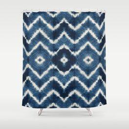 Shibori, tie dye, chevron print Shower Curtain