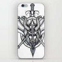 viking iPhone & iPod Skins featuring Viking by Liz Guhl @lizaguhl