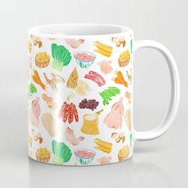 Illustration of a collection of Chinese ingredients Coffee Mug