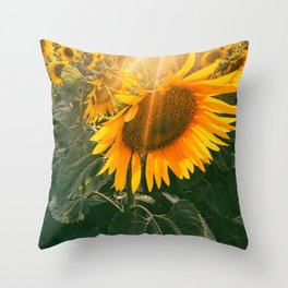 summer in the fields Throw Pillow
