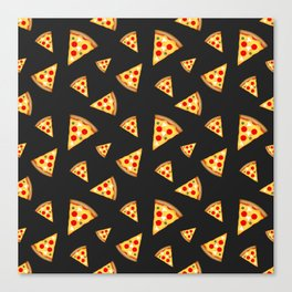 Cool and fun pizza slices pattern Canvas Print