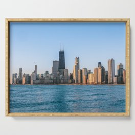 USA Photography - Chicago By The Sea Serving Tray