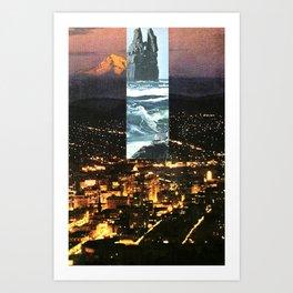 Grime/Glow Art Print