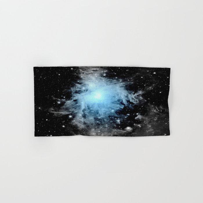 Orion nebULa Black White Blue Space Hand & Bath Towel