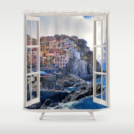 Bella Italia | OPEN WINDOW ART Shower Curtain