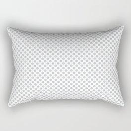 Glacier Gray Polka Dots Rectangular Pillow
