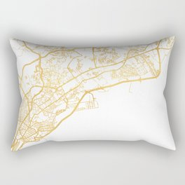 PANAMA CITY STREET MAP ART Rectangular Pillow