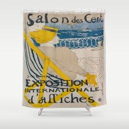 Vintage poster - Salon des Cent Shower Curtain