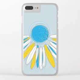 Blue Flower Clear iPhone Case