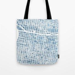 Philadelphia City Map Tote Bag