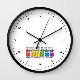 Reading Rainbow in Harmony Wall Clock