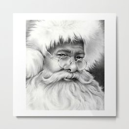 father christmas Metal Print