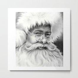 father christmas Metal Print