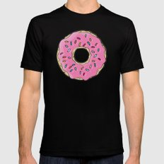 Doughnut Black X-LARGE Mens Fitted Tee