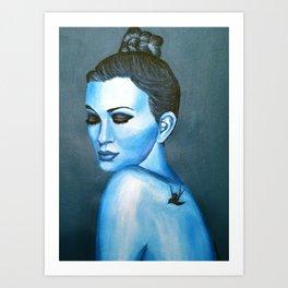 Blue Emotions Art Print