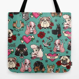 Tattoo Dogs Tote Bag